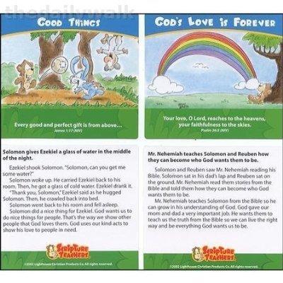Scripture Teachers Direction Card Holder For Kids--New