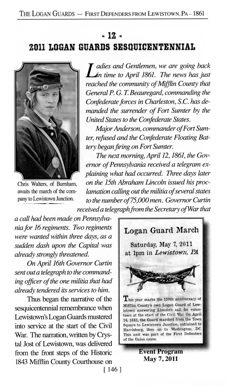 Civil War - The Logan Guards: First Defenders from Lewistown, Pennsylvania
