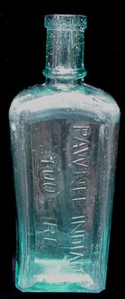 Antique Pawnee Indian Too-Re Quack Medicine Cure Bottle