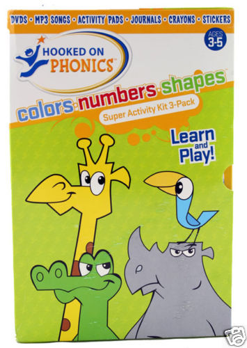 Hooked On Phonics 3 Pack Super Activity Kit ---New