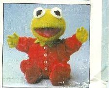 Baby Kermit Doll and Clothes Vogue 8966 Vintage 1980s Pattern Muppet Babies
