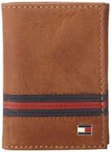Tommy Hilfiger Men's Leather Credit Card ID Wallet Trifold Tan 31TL11X028
