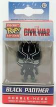 Funko Poche Pop! Marvel Civil War Noir Panthère Porte-Clés Vinyle Figuri... - $14.48