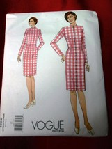 1990s Vogue Sewing Pattern 1004 Misses FITTING SHELL Dress NEW Size 12 U... - $6.85