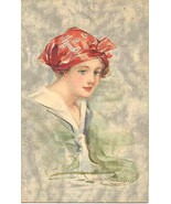 In Deep Thought artist Lyman Powell 1914 Vintage Post Card - $7.00