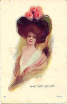 Sweet Kitty Bellairs artist signed Vintage Post Card - $6.00