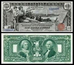 1896 EDUCATIONAL Series Reproduction of 3 famous notes/ $1, $2  ,$5 Bills - $39.99