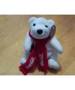 "1998 Coca-Cola 6"" Bean Bag Plush Polar Bear wit... - $4.99"