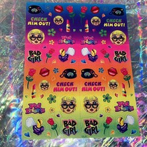 Complete Lisa Frank  S729 Check Him Out Bad Girl Sticker Sheet