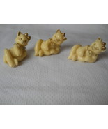 Set of 3 Calico Kittens Gold Trimmed Ivory Colored 1998 Pricilla Hillman... - $29.35