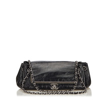 Pre-Loved Chanel Black Others Leather Chain Flap Bag France - $1,442.62 CAD
