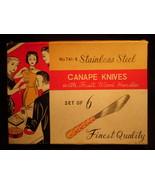 KNIVES - CANAPE KNIVES - VINTAGE - $8.00