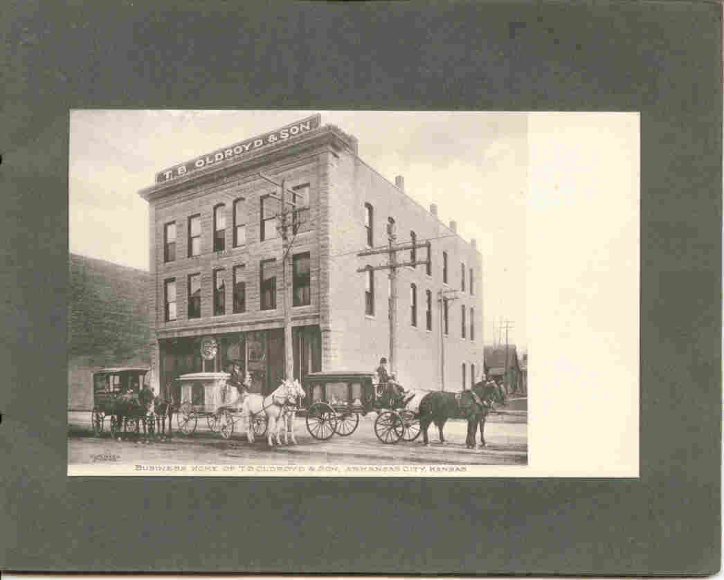 Oldroyd Funeral Home Arkansas City Kansas Vintage Post Card