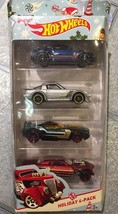 Mattel Hot Wheels 2016 Target Exclusive Holiday 4-Pack Toy Cars Die Cast - $6.92