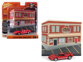 "2005 Ford GT Red with Resin Cafe Front Facade ""Cars and Coffee\"" Diorama 1/64 D - $26.58"