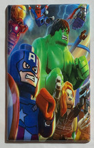 Lego Super hero Hulk Spiderman Light Switch Outlet wall Cover Plate Home decor image 4