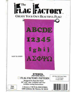 Flag Factory Alphabet Numbers stencil Pattern reuseable sew glue  yard a... - $7.77
