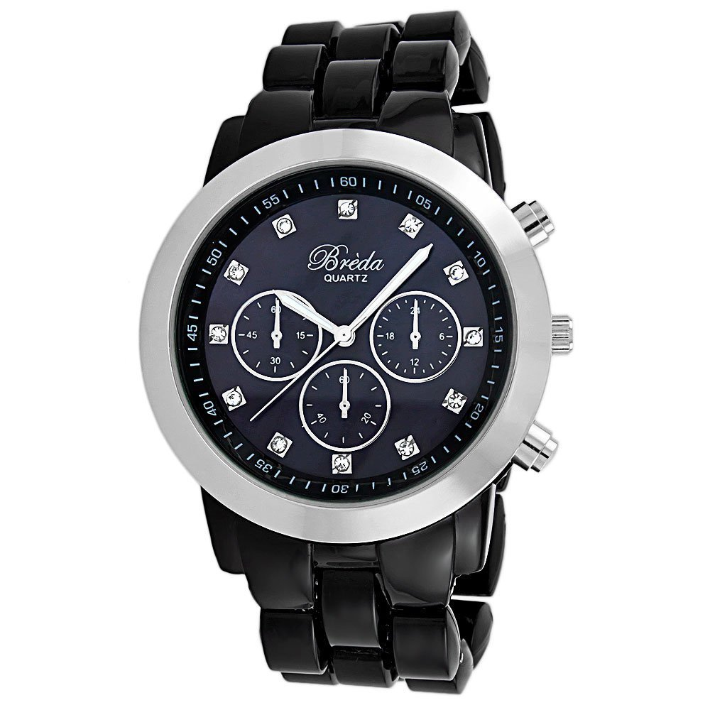 "Primary image for Breda Women's 2307-Black ""Brooke"" Oversized Bezel Black Dial"