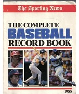 Complete Baseball Record Book 1988 The Sporting News - $8.99