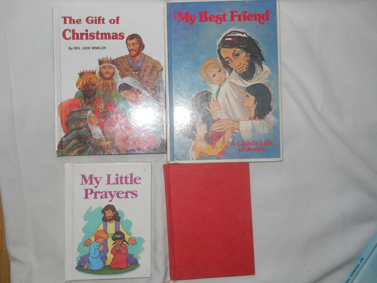 Set of 4 Religious Books My Best Friend Little Prayers Gift of Christmas Bible