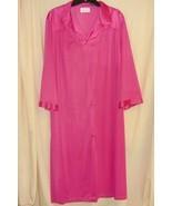 Vanity Fair Hot Pink Lingerie Robe L - $18.88