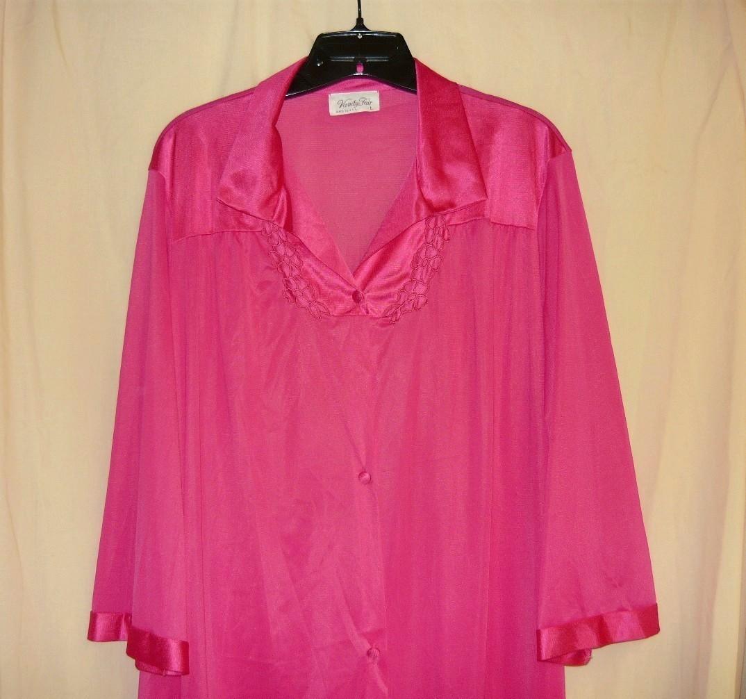 Vanity Fair Hot Pink Lingerie Robe L