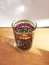 Vintage 70s Arby's Stained Glass Promotional Collectible Tumbler Glass image 4