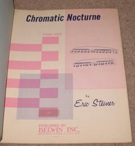 Chromatic Nocturne Sheet Music Piano Solo - Eric Steiner - $8.25