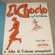 El Choclo Sheet Music - Piano Solo - Villoldo  - $8.25
