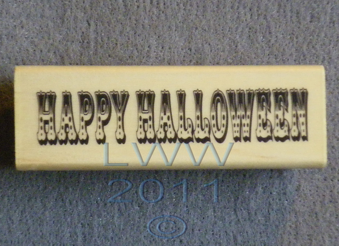Primary image for Wood-mounted Happy Halloween Scrap-booking Rubber Stamp