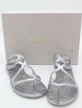 NIB Jimmy Choo Lance Silver Metallic Glitter Rubber Jelly Sandals 7 37 New image 2