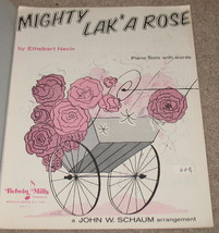 Mighty Lak' A Rose Sheet Music - E. Nevin Piano Solo w/ Word - $8.50
