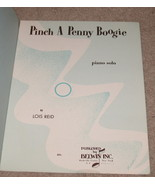 Pinch a Penny Boogie Sheet Music - Lois Reid - Piano Solo    - $8.25