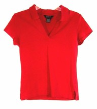 Women's or Jr's Cotton Spandex Athletic Top Size Small 4 6 Red George St... - $7.99