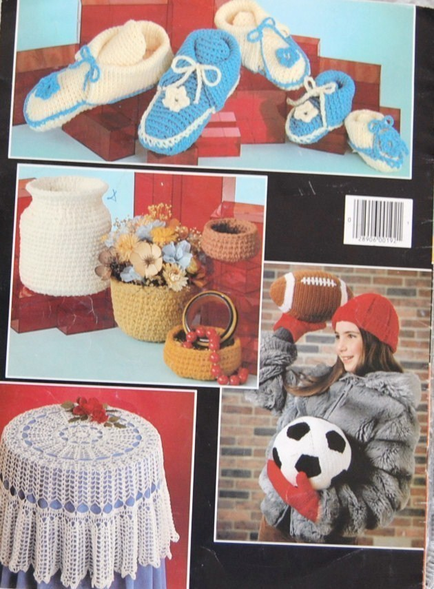 Great Gifts to Knit & Crochet Leisure Arts Vintage Leaflet 192