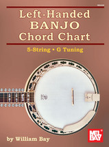 Left Handed Banjo Chord Chart/New/5 String/G Tuning - $4.25