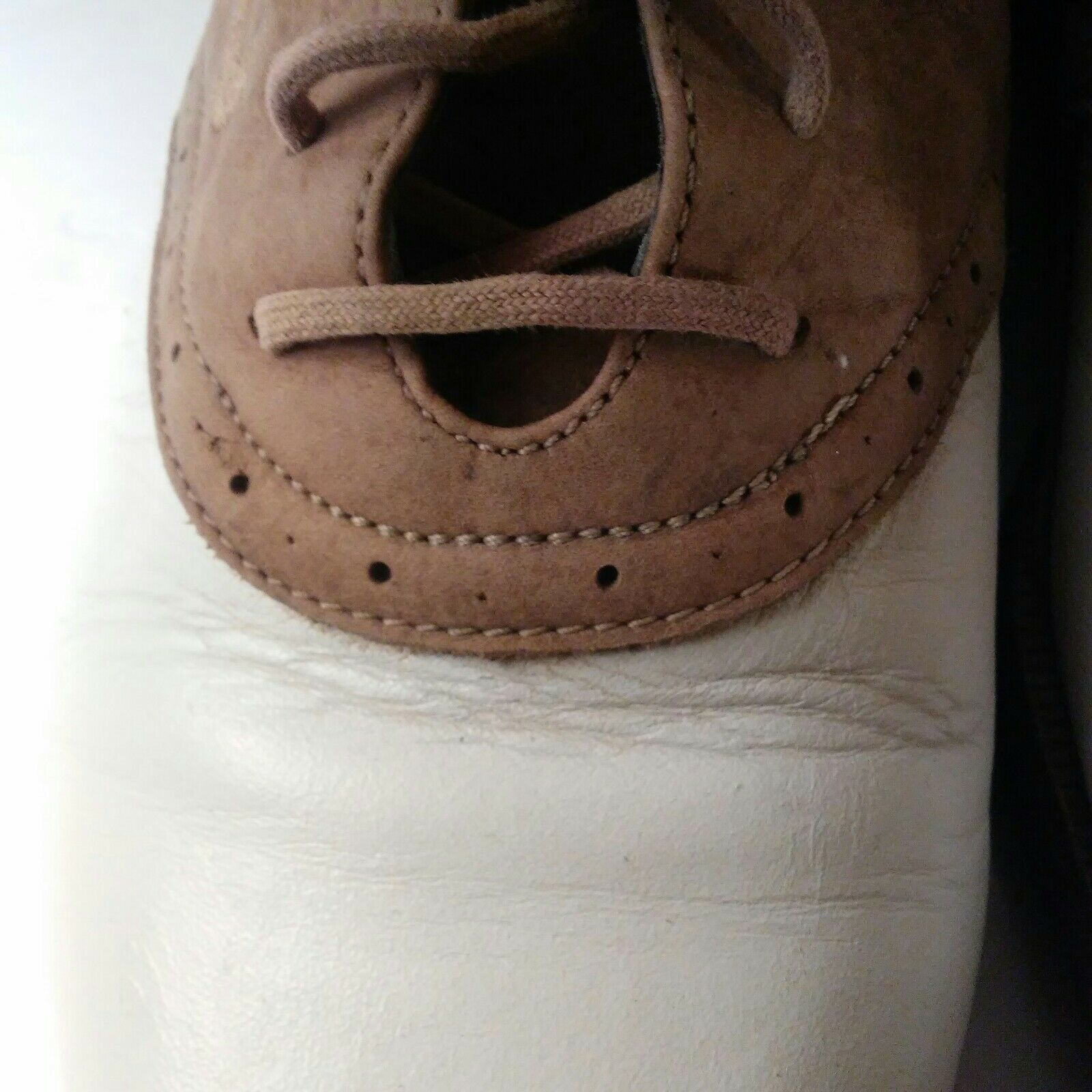 Nike Air Classic Plus White & Brown Saddle Golf Shoes Size 9 image 5