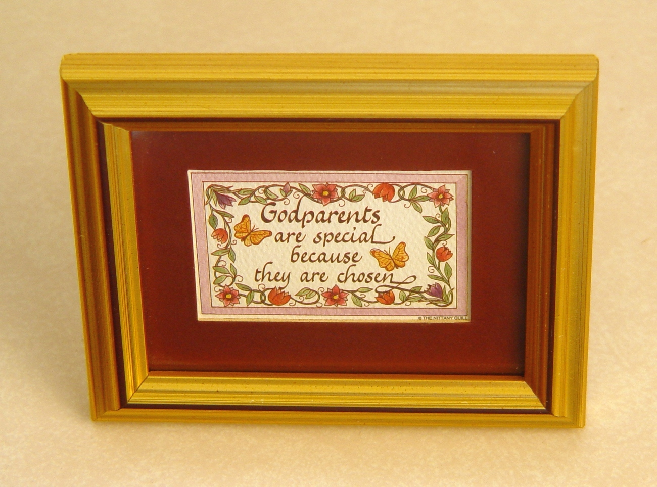 "Primary image for Framed Calligraphy "" Godparents are Special"". - A Wonderful Gift"