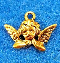 10Pcs. Tibetan Antique Gold Angel Charms/Pendants Earring Drops Findings... - $19.05