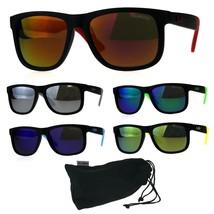 Polarized Kush Mens Rectangular Color Mirror Lens Sport Horn Rim Sunglasses - $14.95