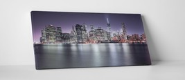 "New York Manhattan Panoramic Skyline Gallery Wrapped Canvas Print. 45""x16"" - $135.52"