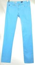 Andriano Goldschmied AG jeans 25 x 30 Stilt cigarette leg turquoise USA - $39.59