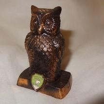 "Vintage Owl Pot Metal Copper Coating Souvenir Minnesota 3"" Figurine Japan - $16.23"