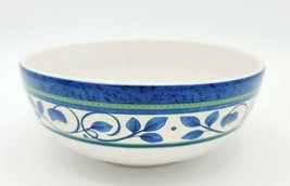 Pfaltzgraff Orleans Pattern Soup / Cereal Bowl - Green and Blue Floral Border  - $13.85