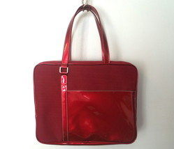 Estee Lauder Burgundy Red Travel Cosmetic Case Tote - $14.99
