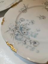 "Lorenz Hutschenreuther Set Of Four 7.5"" Dessert Plates Germany White Gold Floral - $28.71"