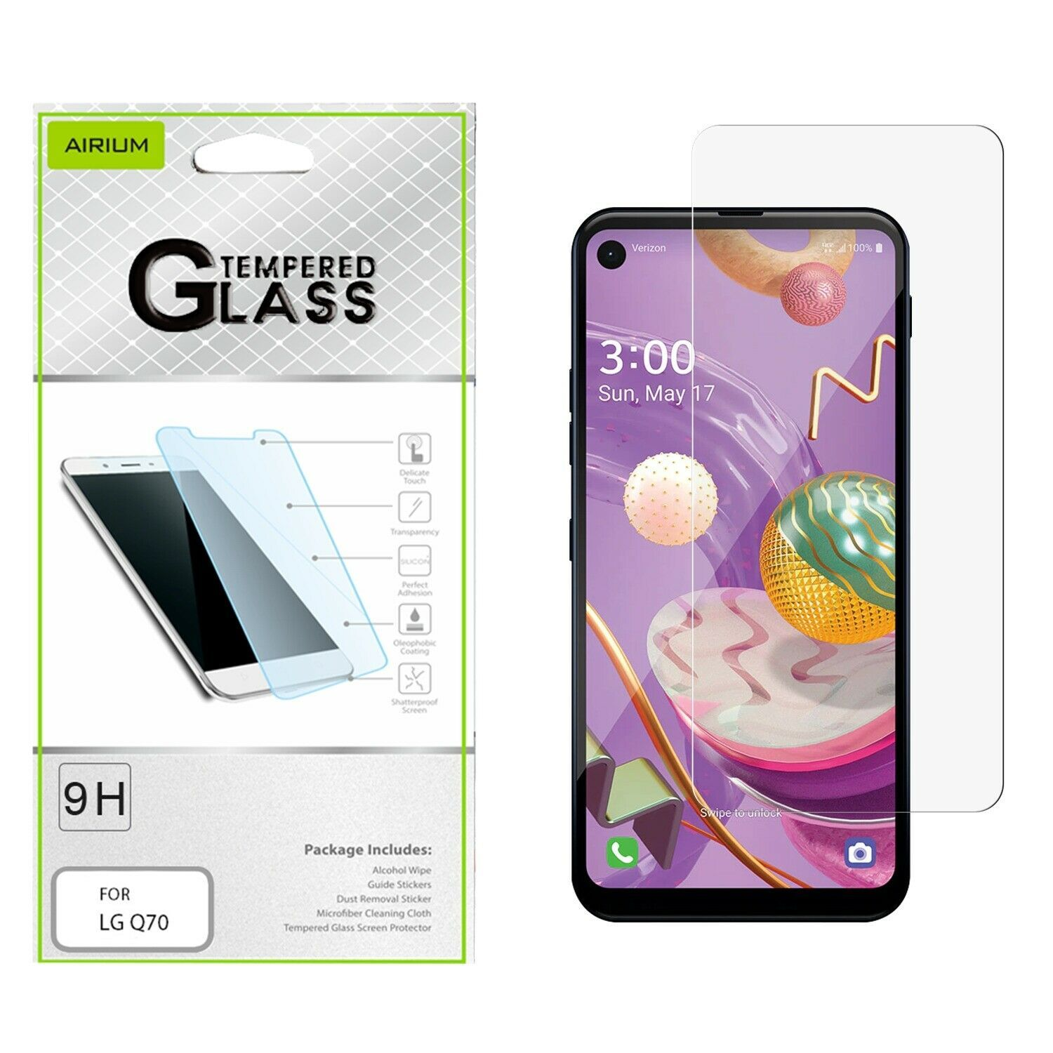 Primary image for For LG Q70 Tempered Glass Screen Protector Shockproof Premium Guard Clear