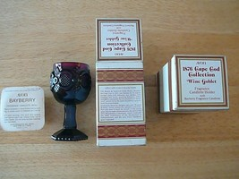 Pair of Avon 1876 Cape Cod Collection Ruby Red WINE GOBLETS w/Boxes, BAY... - $6.79