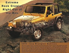 2003 Jeep WRANGLER RUBICON sales brochure sheet 03 4WD - $8.00
