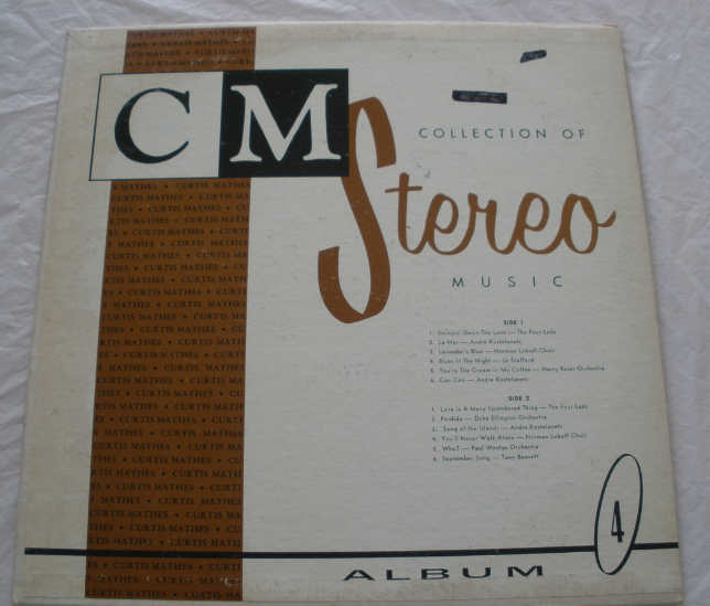 CM Collection of Stereo Music -Allbum One -  LP